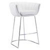 Latte Backless Bar Chair - White
