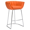 Latte Backless Bar Chair - Orange