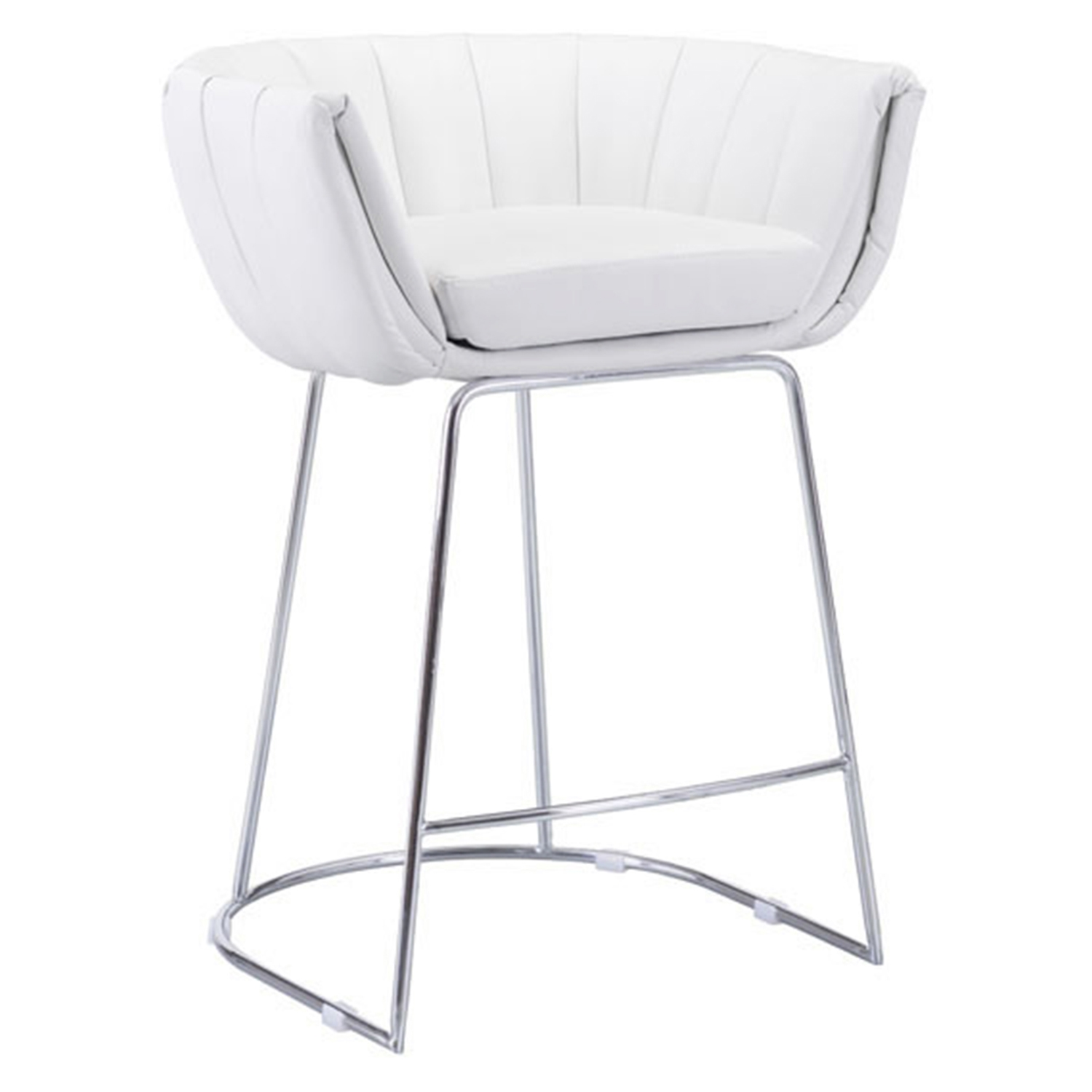 Latte Backless Counter Chair - White