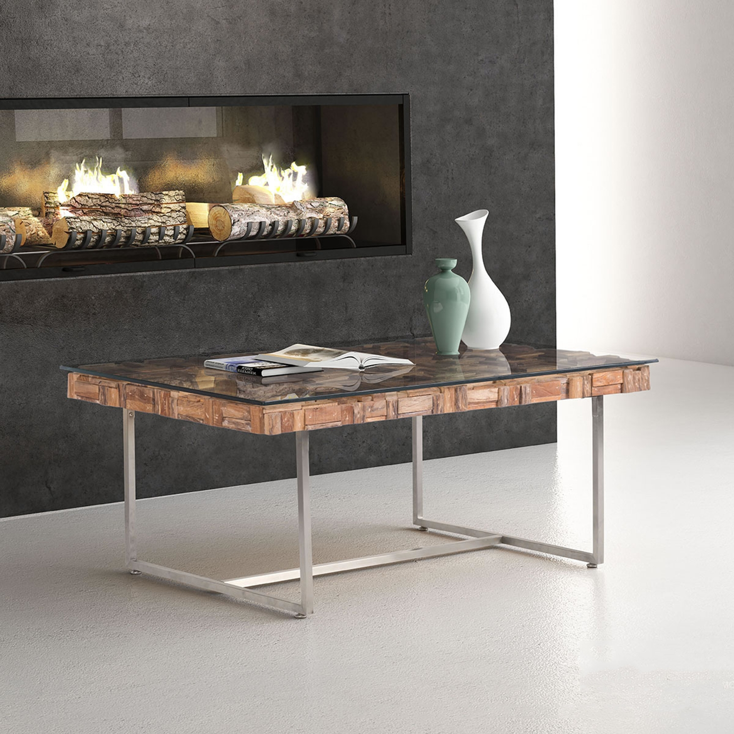 Collage Coffee Table - Natural - ZM-100258