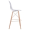 Shadow Bar Chair - Backless, Transparent, Natural and Gold - ZM-100261