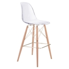 Shadow Bar Chair - Backless, Transparent, Natural and Gold