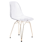 Shadow Dining Chair - Transparent and Gold