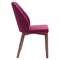 Vaz Dining Chair - Red Velvet - ZM-100269