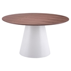 Query Dining Table - Walnut and White