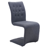 Hyper Dining Chair - Tufted, Dark Gray