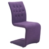 Hyper Dining Chair - Tufted, Purple