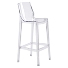 Phantom Backless Bar Chair - Clear