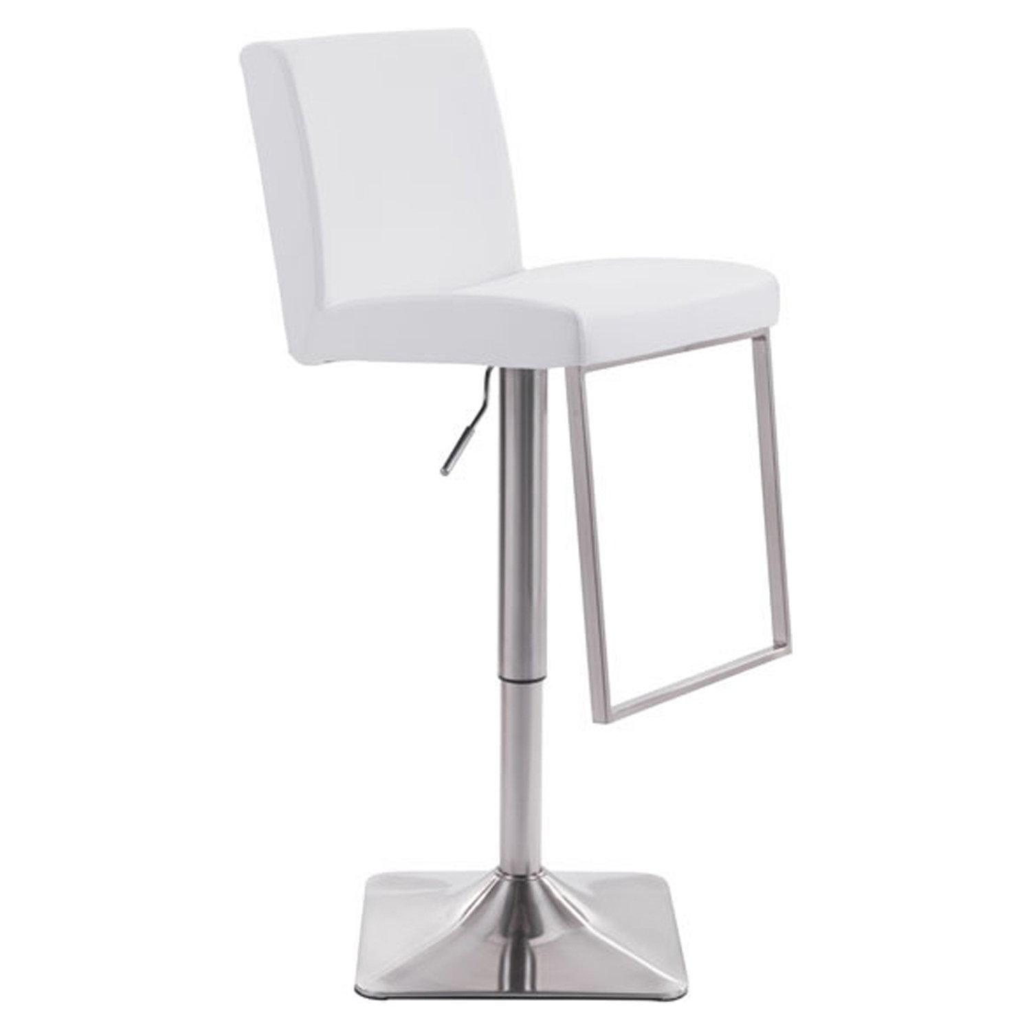 Puma Bar Chair - Adjustable, White - ZM-100311