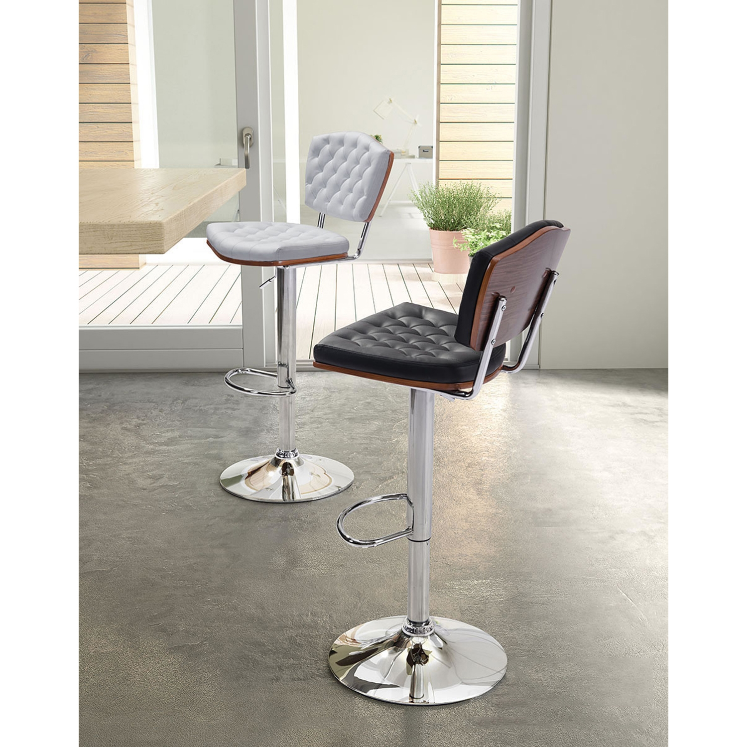 Tiger Bar Chair - Tufted, White - ZM-100316