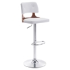 Lynx Bar Chair - Adjustable, White