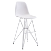 Zip Backless Bar Chair - White
