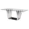Fan Dining Table - Chrome