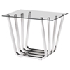 Fan Side Table - Chrome