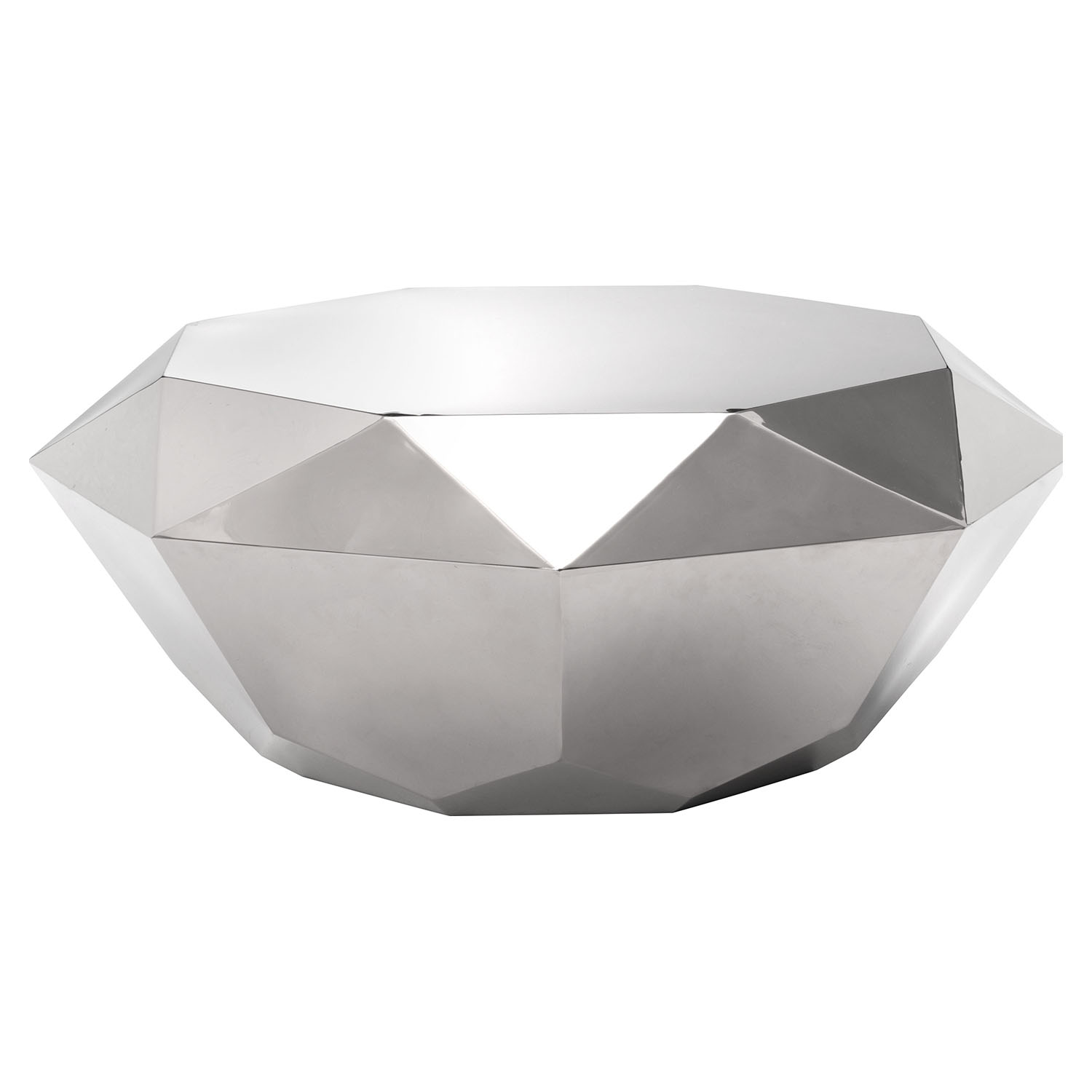 Gem Coffee Table - Stainless Steel - ZM-100344