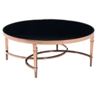 Elite Round Coffee Table - Rose Gold and Black