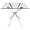 Rize Dining Table - Chrome - ZM-100349