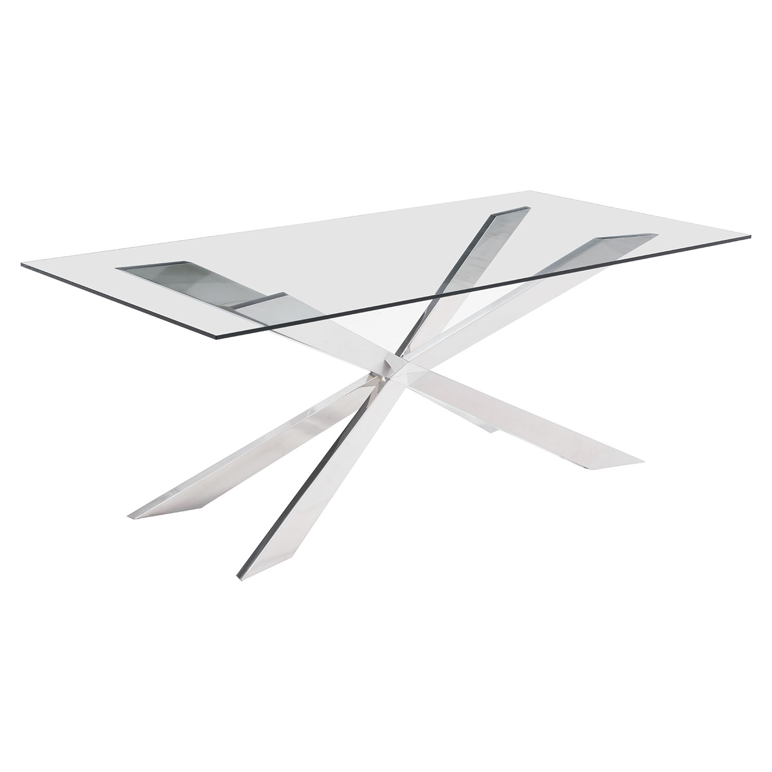 Rize Dining Table - Chrome