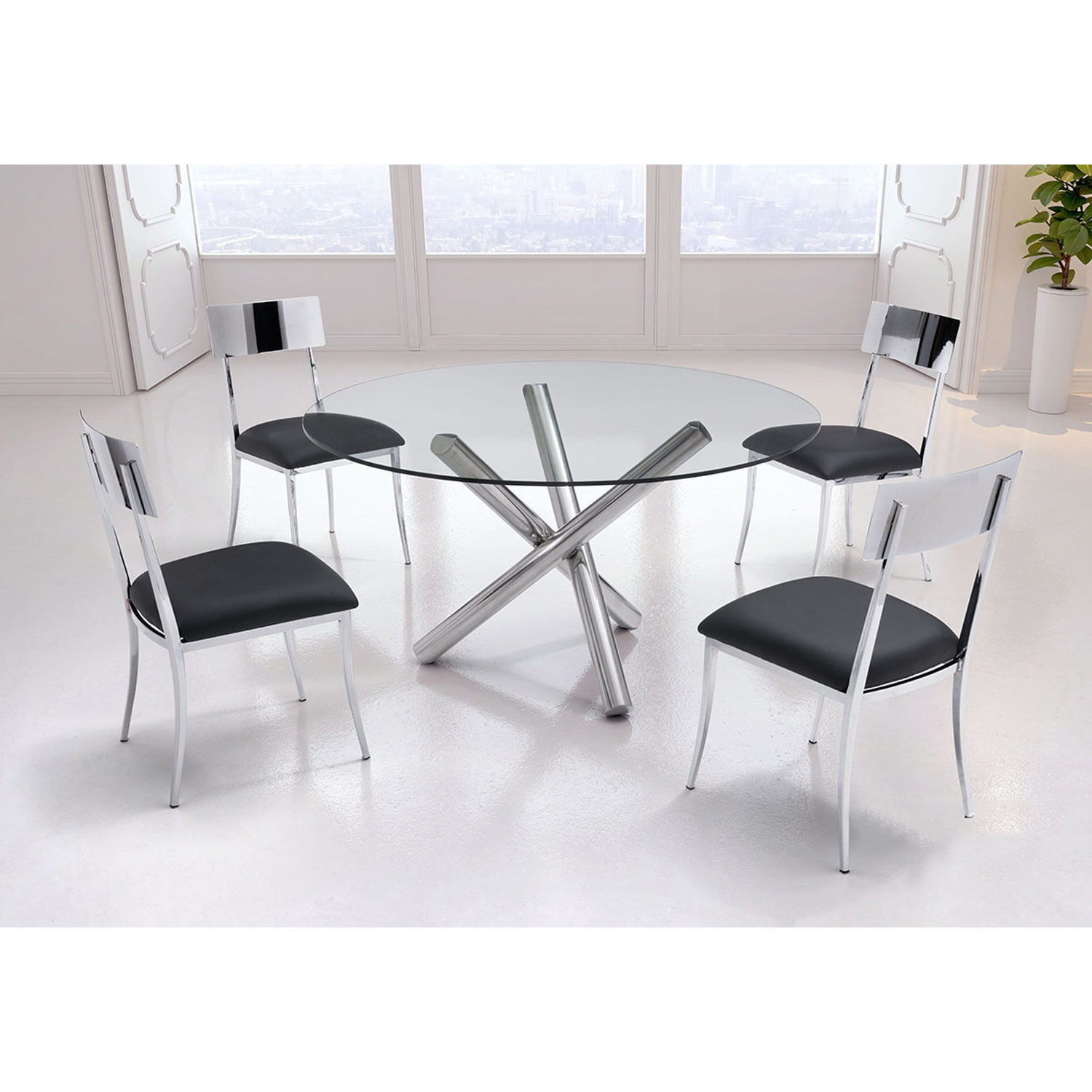 Mach Dining Chair - Black - ZM-100353