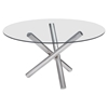 Stant Round Dining Table - Chrome