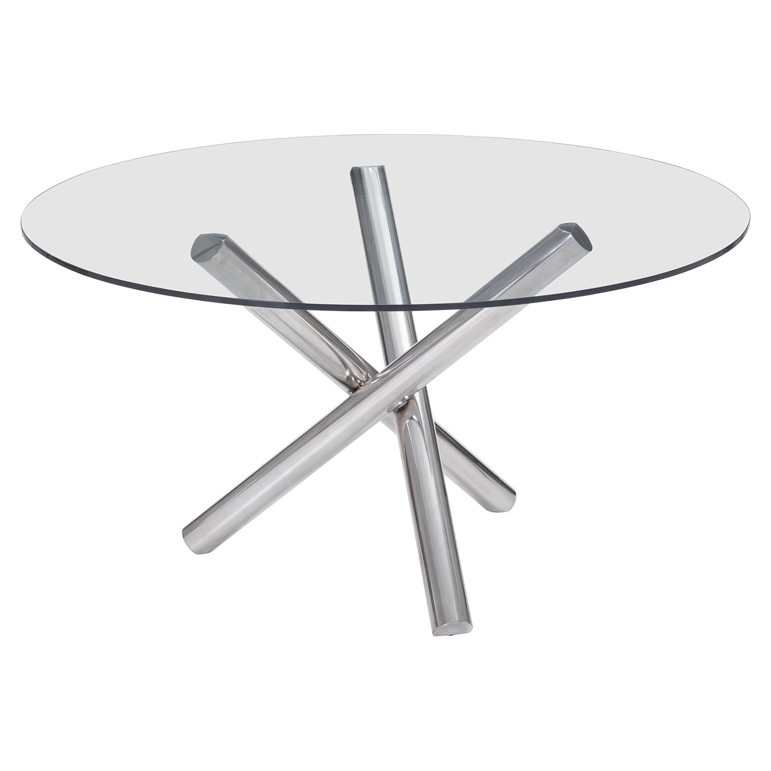 Stant Round Dining Table - Chrome - ZM-100352