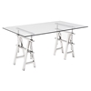 Lado Office Desk - Chrome