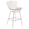 Wire Bar Chair - Backless, Rose Gold