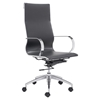 Glider High Back Office Chair - Black