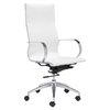 Glider High Back Office Chair - White