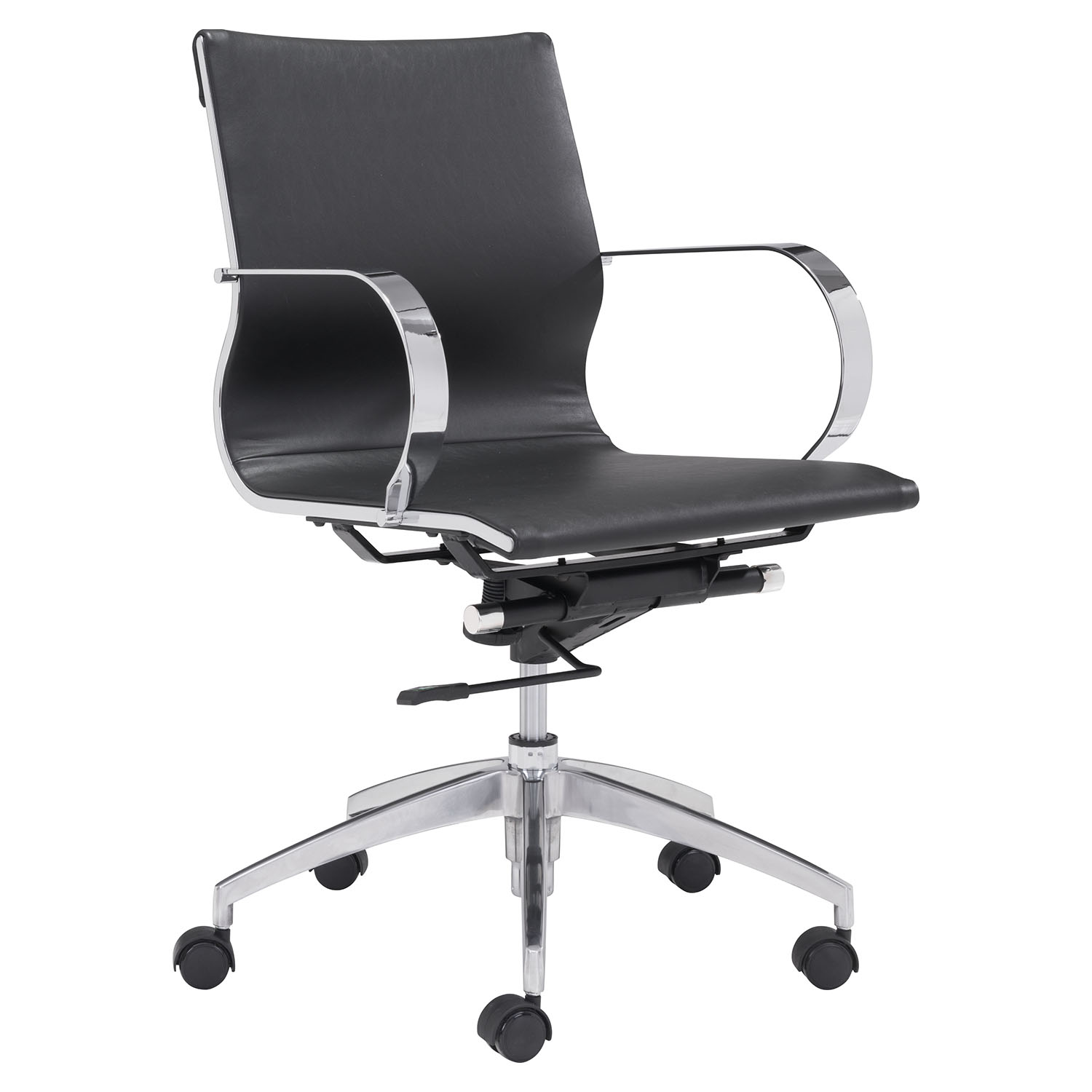 Glider Low Back Office Chair - Black - ZM-100374