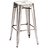 "Marius 29"" Backless Bar Chair - Steel, Gunmetal"