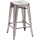 "Marius 26"" Backless Counter Chair - Steel, Gunmetal"