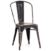 Elio Dining Chair - Steel, Antique Black Gold