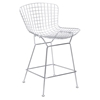 Wire Counter Chair - Backless, Chrome
