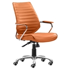 Enterprise Low Back Office Chair - Terracotta