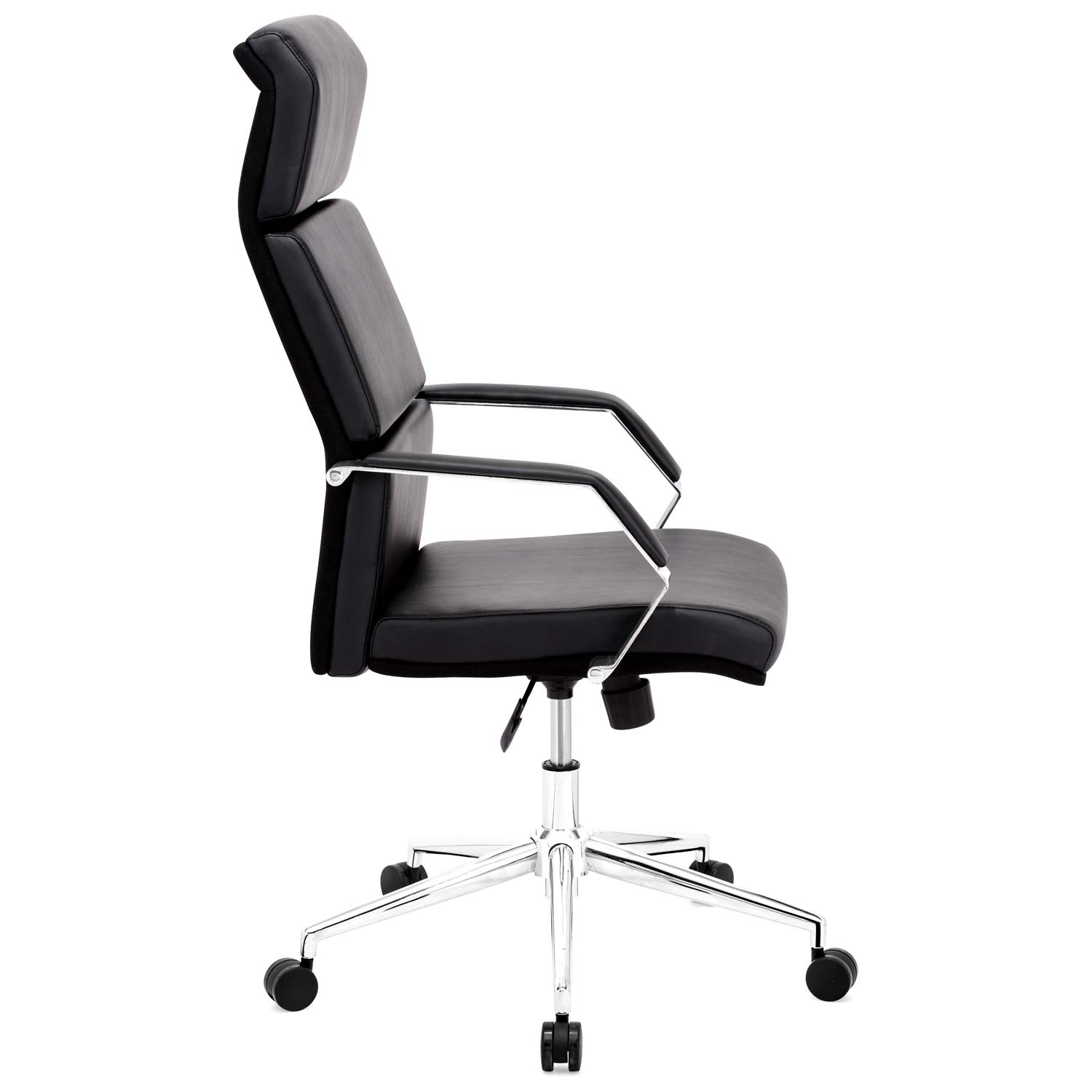 Lider Pro Office Chair - Chrome Steel, Black - ZM-205310