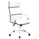 Lider Pro Office Chair - Chrome Steel, White