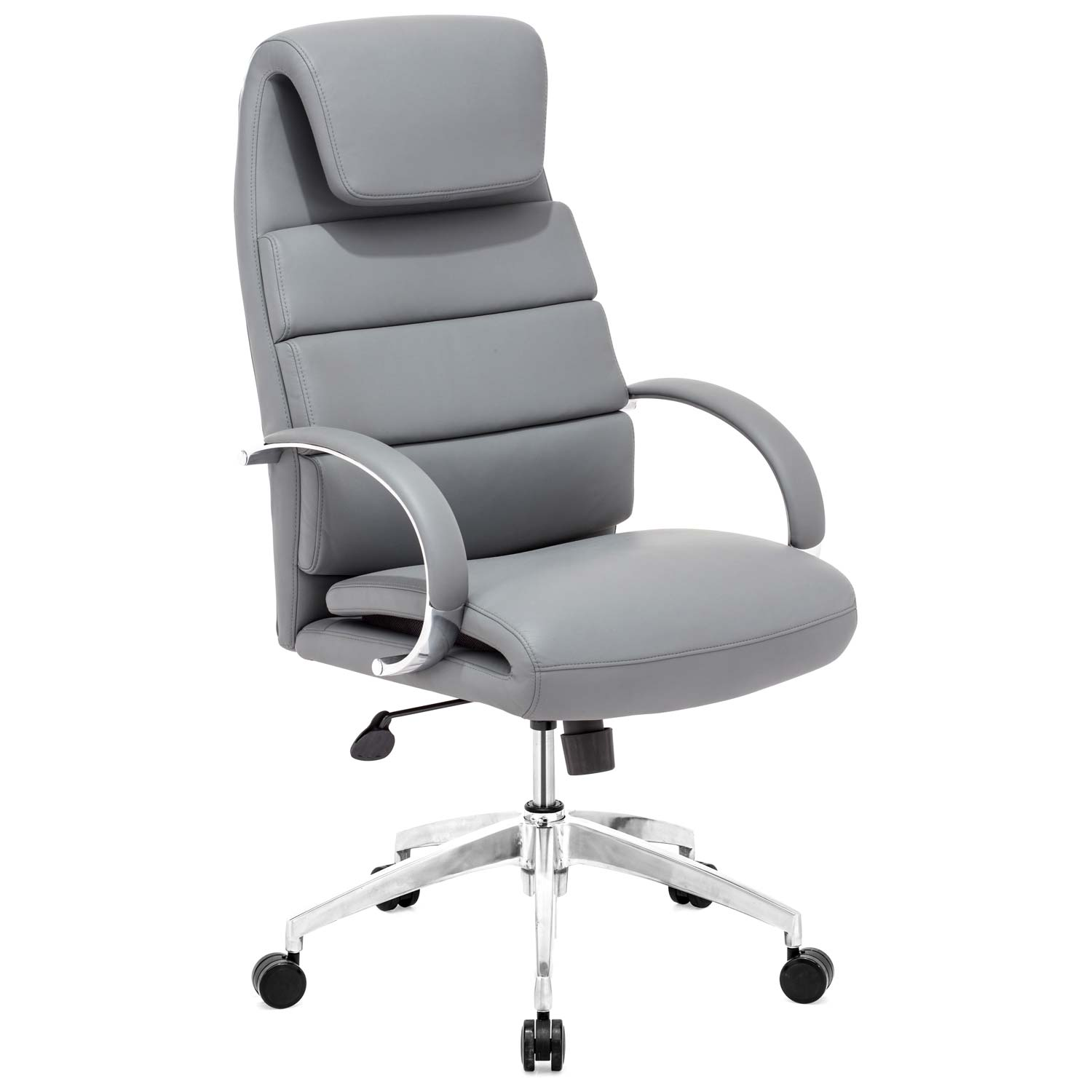 Lider Comfort Office - Chrome Steel, Gray