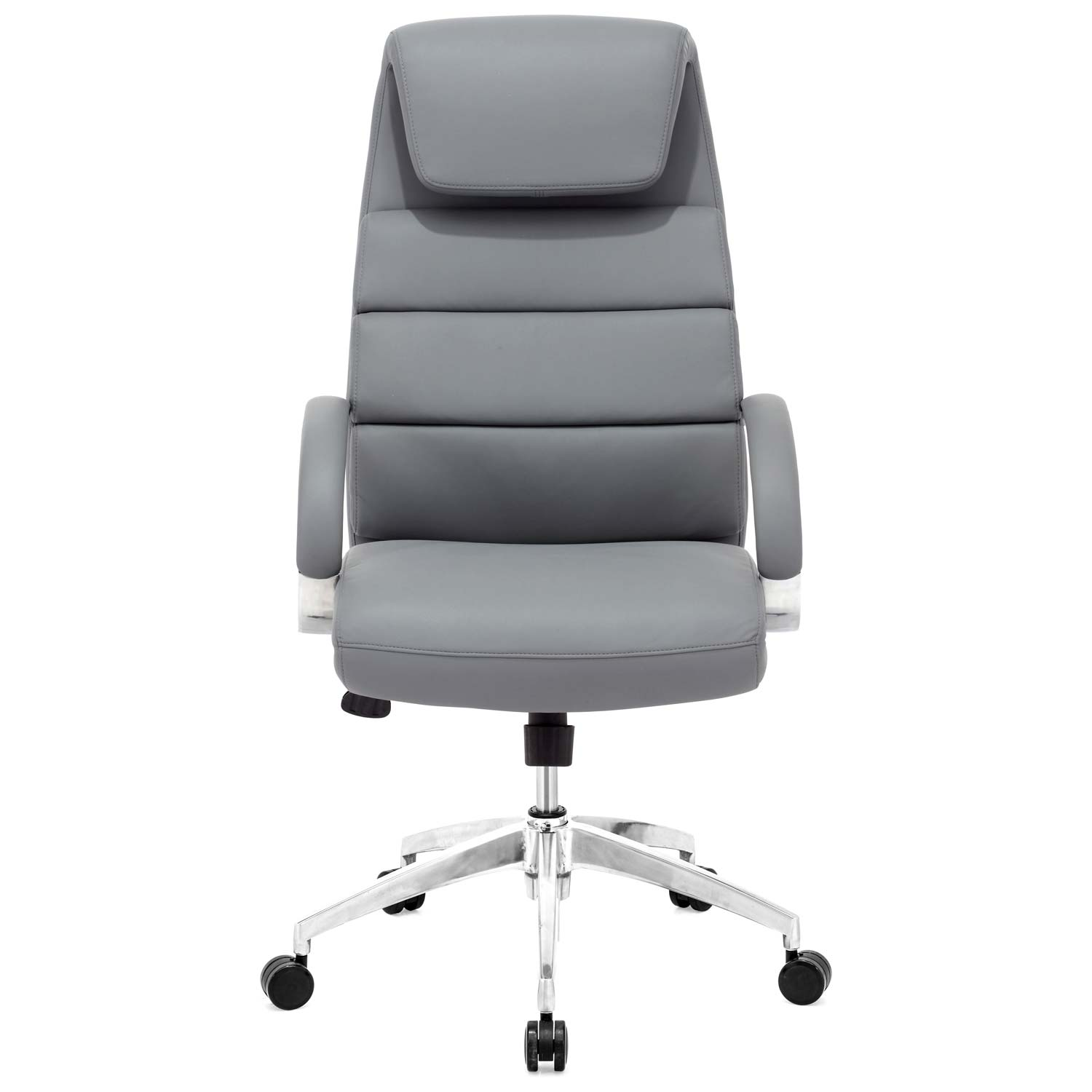 Lider Comfort Office - Chrome Steel, Gray - ZM-205317