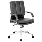Director Pro Office Chair - Chrome Steel, Black