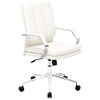 Director Pro Office Chair - Chrome Steel, White