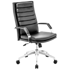 Director Comfort Office Chair - Chrome Steel, Black