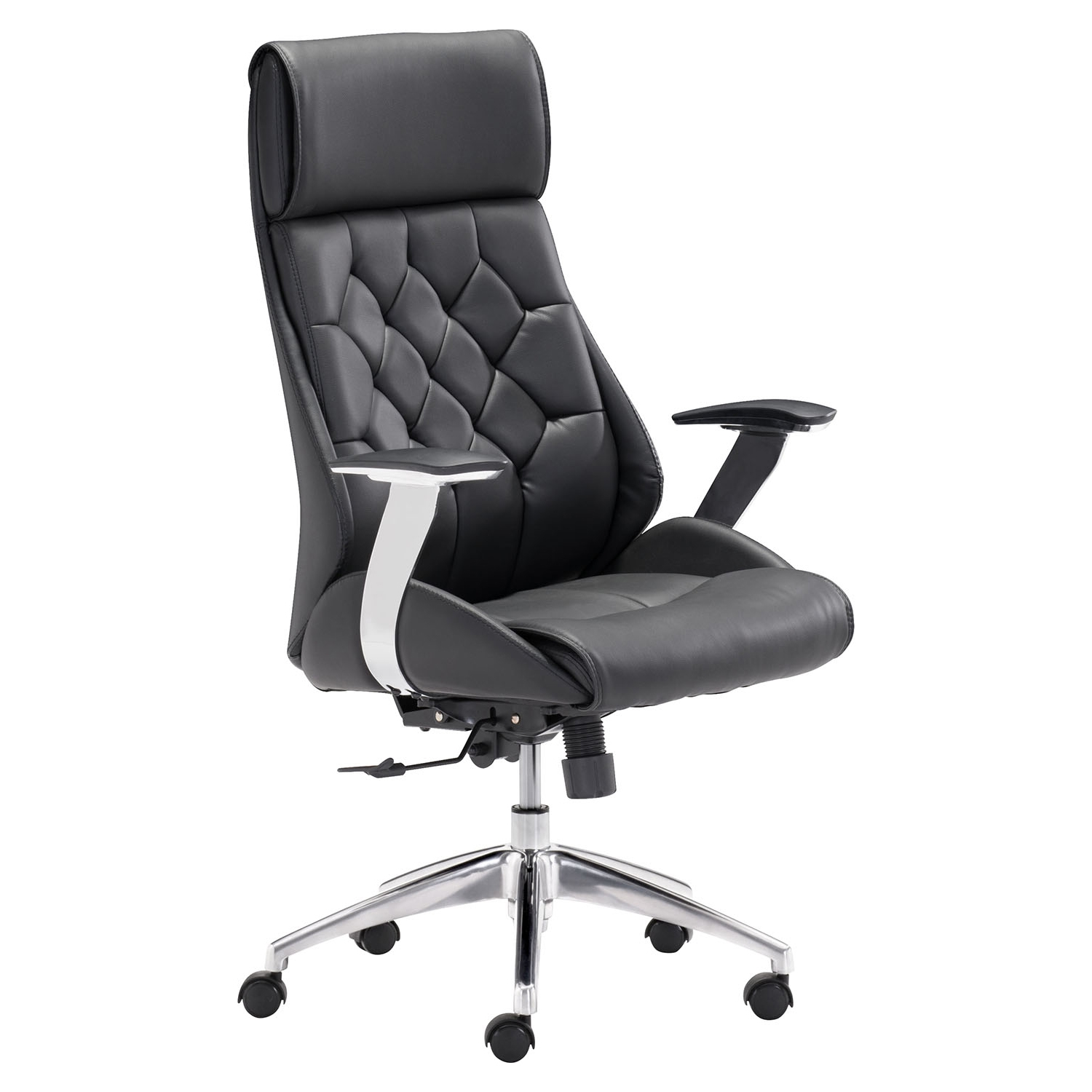 Boutique Office Chair - Adjustable, Casters, Black