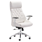 Boutique Office Chair - Adjustable, Casters, White