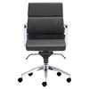 Engineer Low Back Office Chair - Casters, Black