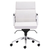 Engineer Low Back Office Chair - Casters, White