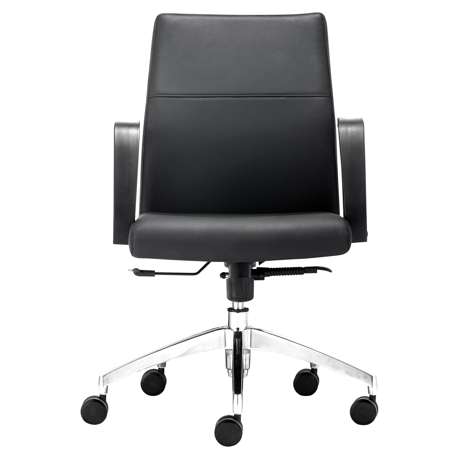 Conductor Low Back Office Chair - Casters, Black