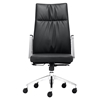 Dean High Back Office Chair - Casters, Black