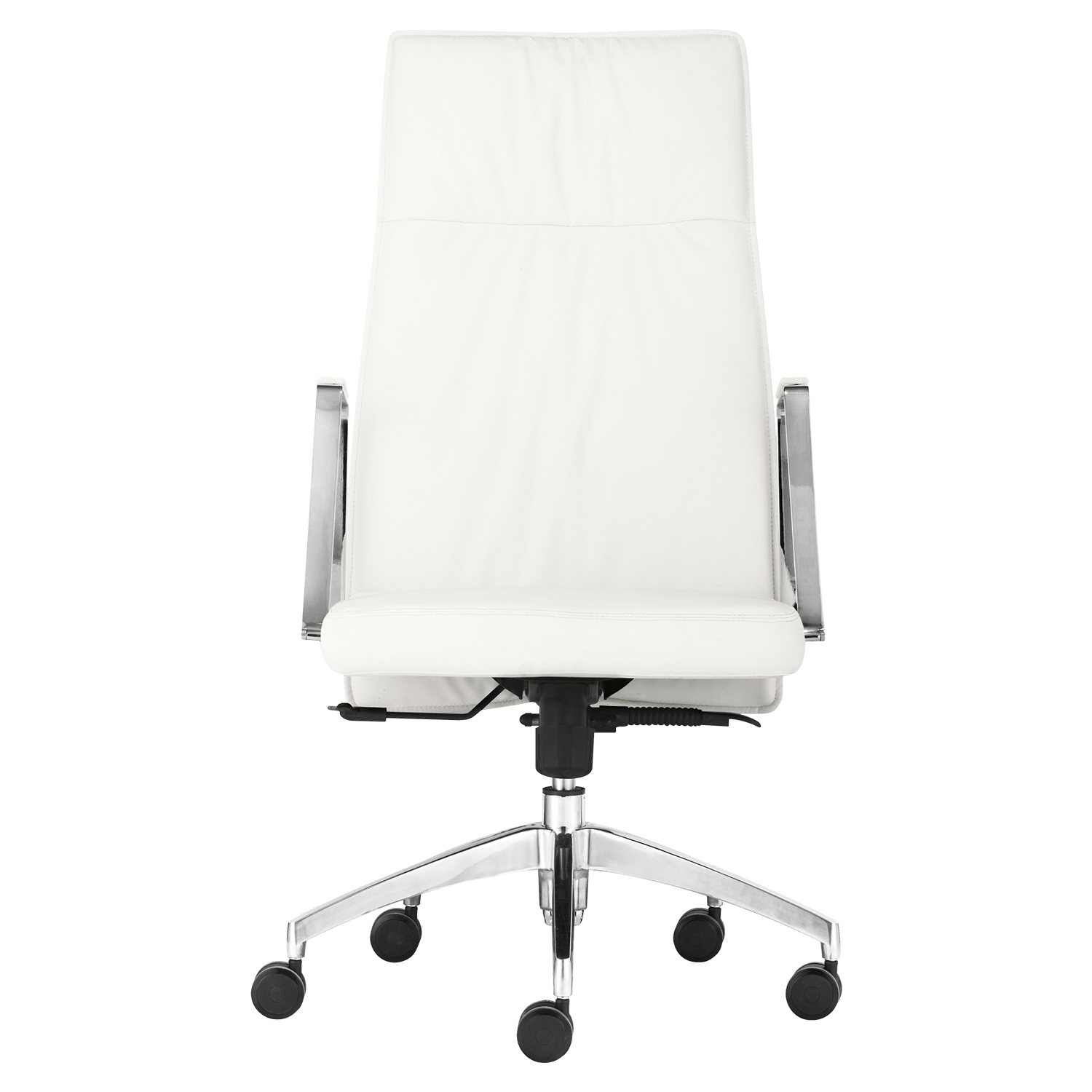Dean High Back Office Chair - Casters, White