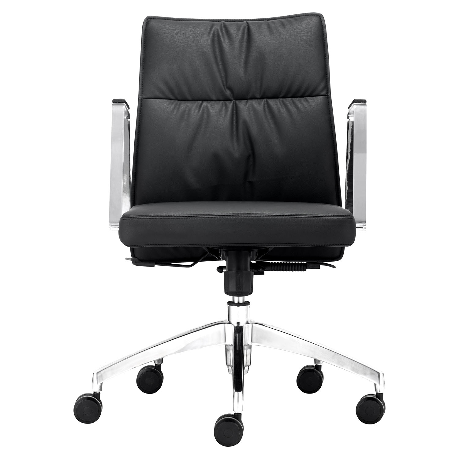 Dean Low Back Office Chair - Casters, Black